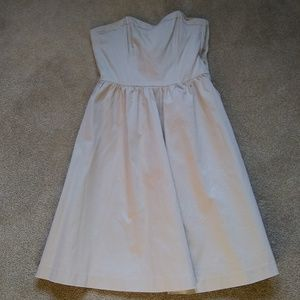 H&M tan strapless lined dress US 4